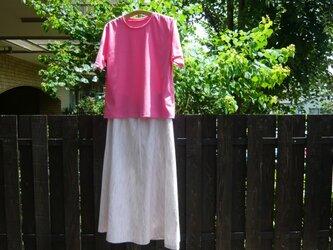 遠州綿紬のフレアスカートの画像