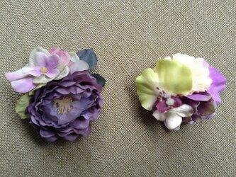 mini 小花の髪飾りの画像