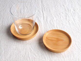 コースター ヒノキ材 2枚セットの画像
