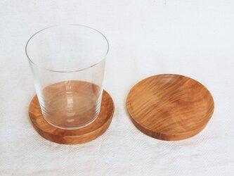 木製コースター 桜材6 2枚セット 丸型の画像