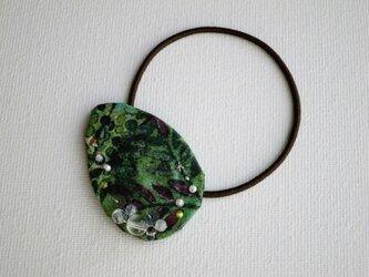 緑の森ヘアゴム Color drop(LIBERTY)受注製作の画像