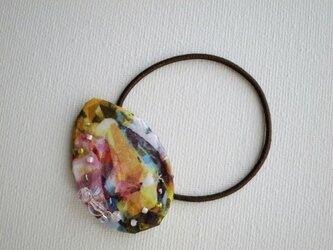 宝石模様ヘアゴム Color drop(LIBERTY)受注製作の画像