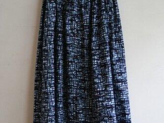 綿 嵐模様 タックゴムスカートa の画像