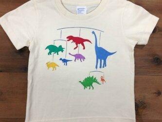 恐竜モビール柄 KidsTシャツ(ベージュ)の画像