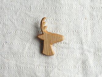 ブローチ 『鹿』 ニレ材の画像