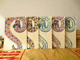年賀状2013 Snake Fiveの画像