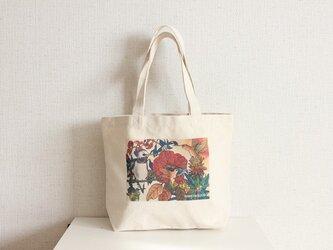 トートバッグ キャンバス ハミングバードの画像