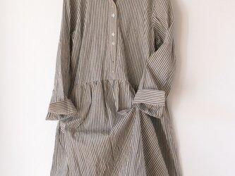 【再販 Suさまご注文品】受注製作 播州織のシャツワンピースの画像