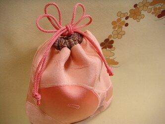 小さな絹の巾着 万寿菊の画像
