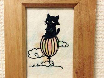 ミニ切り絵・なまいき猫ちゃん1の画像