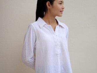 シャツ襟バイアス袖のチュニックの画像