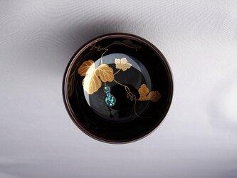 輪島塗ぐい吞み 溜塗 花付き瓢箪蒔絵 の画像