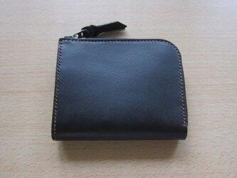 L字ファスナー財布(黒)の画像
