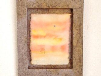 砂漠の夕焼けの画像