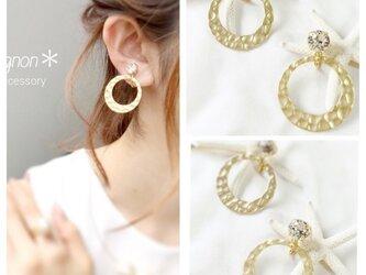 circle metal *ear accessory*の画像