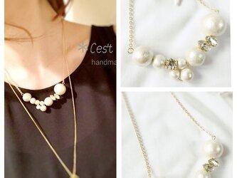 pearl×bijou *necklace*の画像