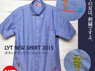 SURF 刺繍 ボタンダウン OXブルーシャツの画像