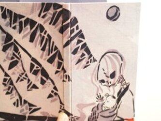 「夏の夜の怪・飴買」 型染め手帳の画像