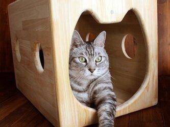 木製猫ハウス・13.CATS.WORKSオリジナルの画像