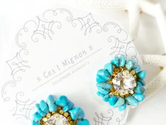 turquoise *ear accessory*の画像