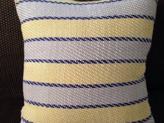 手織りクッション smallの画像