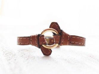 knot ring bracelet elegant camelの画像