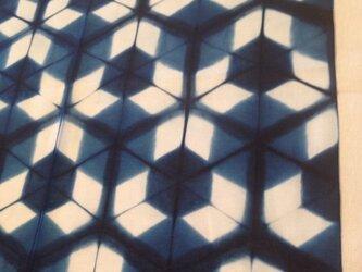 藍板染ハンカチの画像