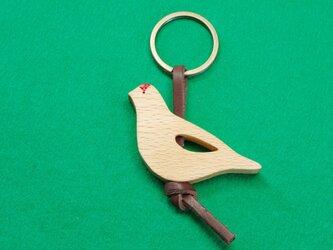 ライチョウ / 雷鳥 木のキーリングの画像