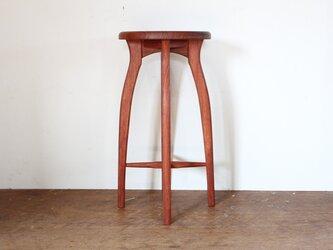 キッチンスツールR・ブビンガ材の画像