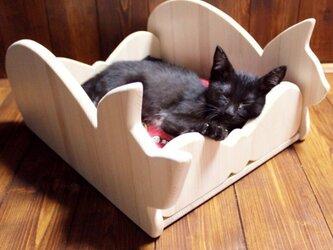 木製仔猫用ベッド(シルエット)13.CATS.WORKSの画像