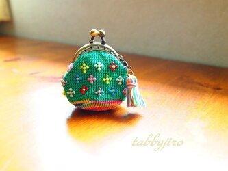 ビーズ編みがま口-香り小花の画像