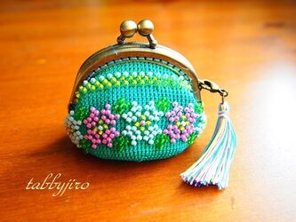 ビーズ編みがま口-プラナカン風の画像