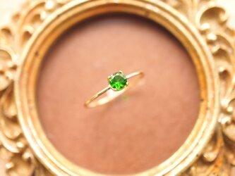 再販】K18クロムダイオプサイトのリング ~Giorgiaの画像