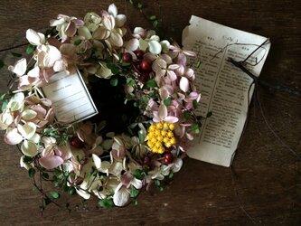 ミナズキ紫陽花 リースの画像