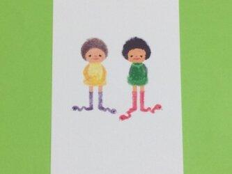 ヘビ靴下ーpostcardの画像
