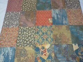 和柄のパッチワークの布の画像