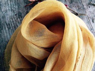 草木染めストール(たまねぎと黄金花ブレンド・山吹色)の画像
