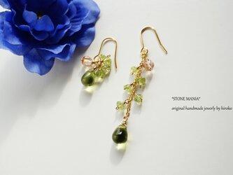 レディーグリーンピアス Lady green earrings P0045の画像