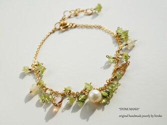 ペリドット ブレスレット Lady green bracelet B0028の画像