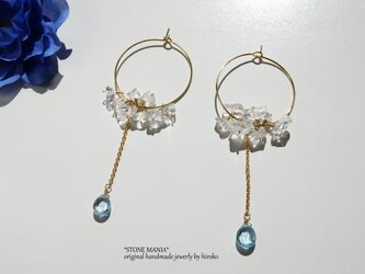 ♡Lady ice blue pierce♡の画像