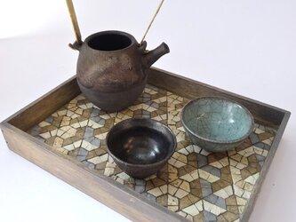 茶流 SALUT L-tray 『Y』greigeの画像