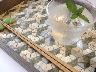 茶流 SALUT L-tray 『Y』greenxecruの画像
