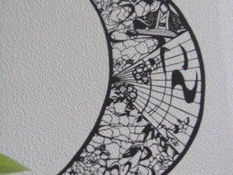 切り絵:月~和~の画像