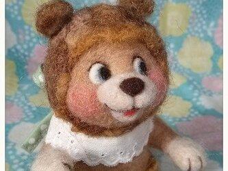 羊毛フェルト・もこもこクマくんの画像
