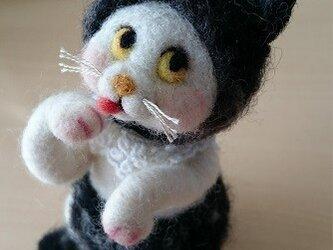 羊毛フェルト・もこもこネコちゃんの画像