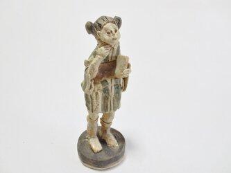 ちびキモノ人形 -緑しましまーの画像