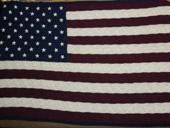 しーかちゃん様オーダー品・星条旗のベッドカバーの画像