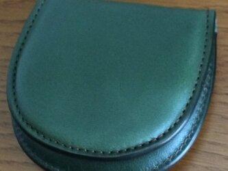 栃木レザー 馬蹄型コインケース グリーンの画像