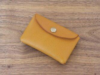 イタリア製牛革のミニ財布 / イエロー※受注製作の画像