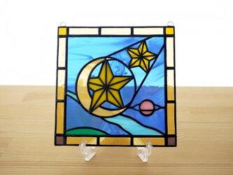 [ご予約分] ステンドグラス ミニパネル 流星 15cmの画像